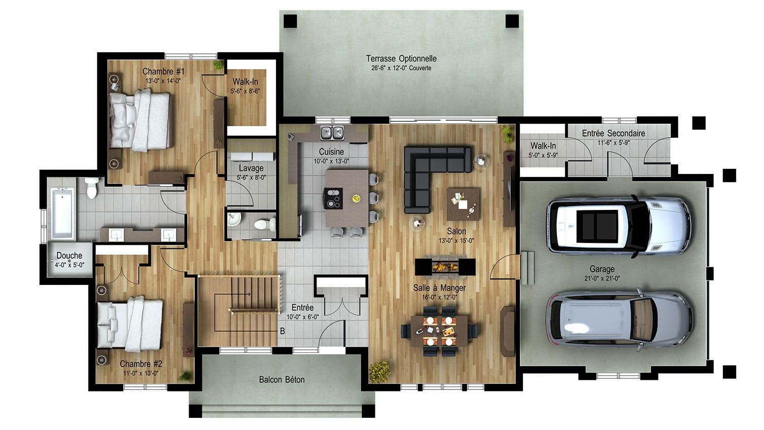 Le Norden | Projet immobilier à St-Sauveur | Maison d'inspiration | Le Avila | Le plan