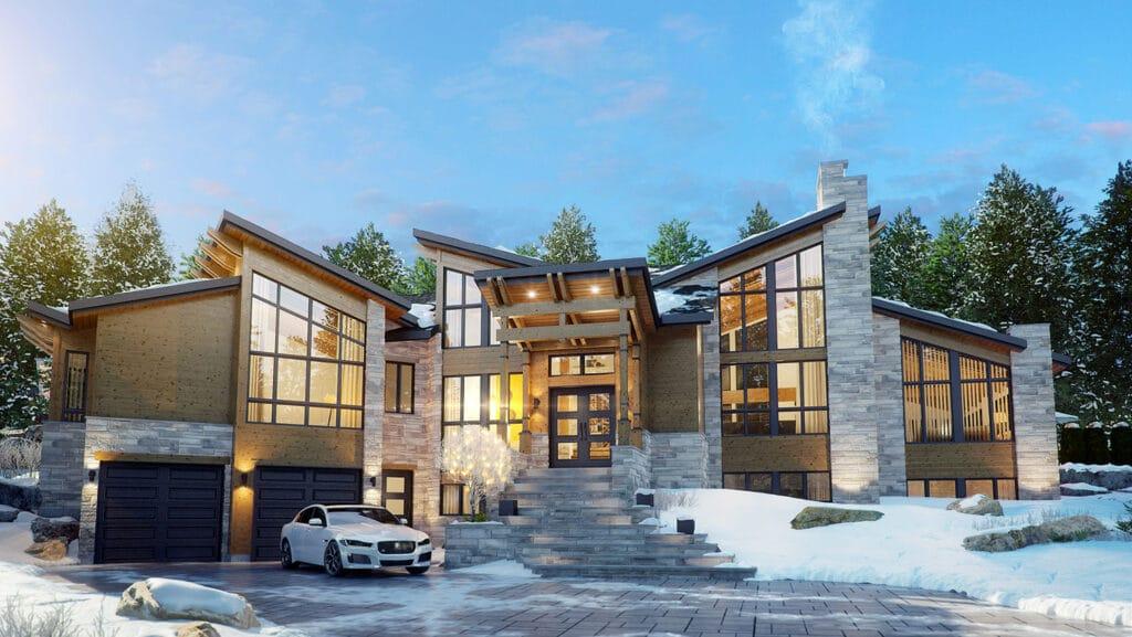 Le Norden | Projet Immobilier | Maison Le Mont-Gabriel Hiver