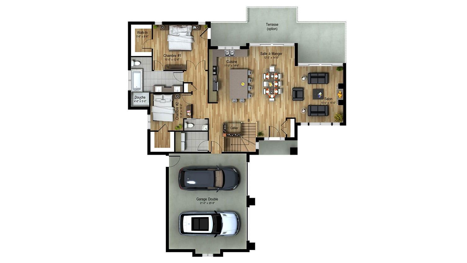 Le Norden | Projet immobilier à St-Sauveur | Maison d'inspiration Le Saint-Sauveur | Le plan